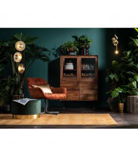 Vitrina cristal y madera Ravello 100cm