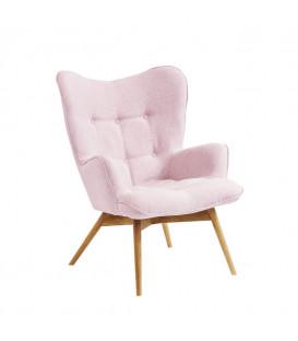 Sillón tapizado Vicky rosa