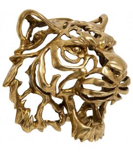 Decoración de pared cabeza de Tigre oro