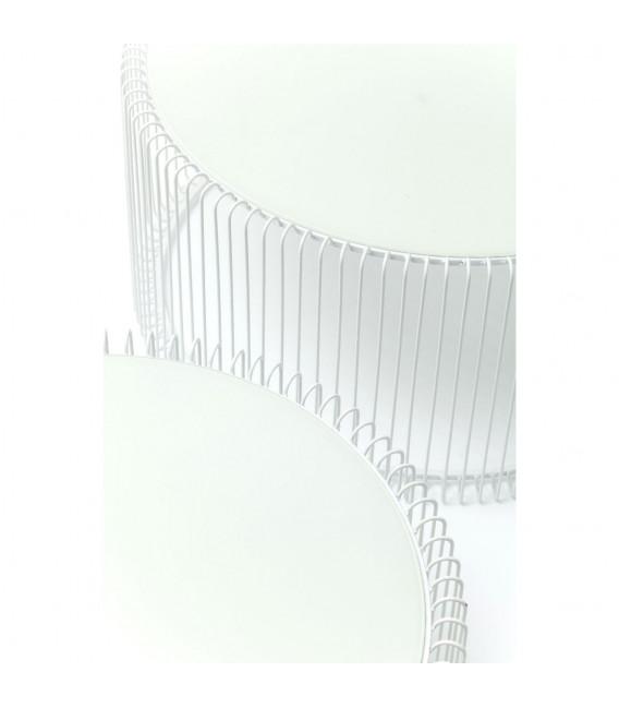 Mesa centro Wire blanco (2/set)