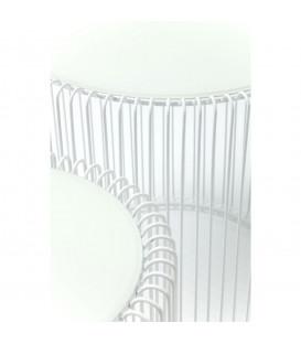 Mesa auxiliar Wire blanco (2/set)