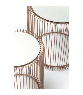 Mesa auxiliar Wire cobre (2/set)