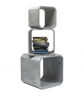 Cubos cuadrado Concrete (3/set)