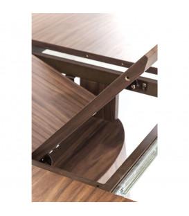 Mesa extensible Benvenuto nogal 200(50)x110cm