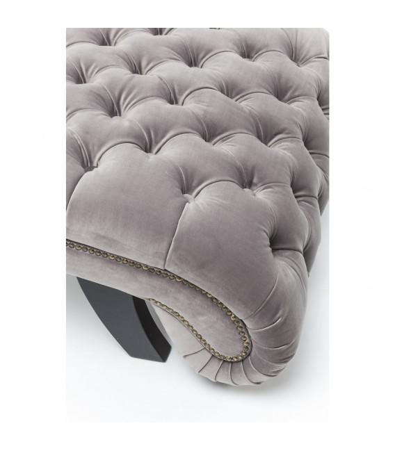 Tumbona Desire Velvet gris plata
