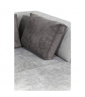 Sofá Infinity Chenille Ottomane izqda gris