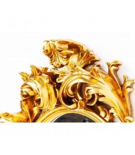 Espejo Sun King Oval dorado 80x60cm