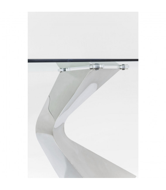 Mesa Gloria cromo 200x100cm