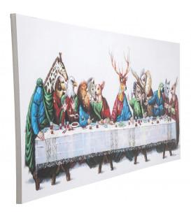 Cuadro impreso retoques óleo Last Supper 100x240cm
