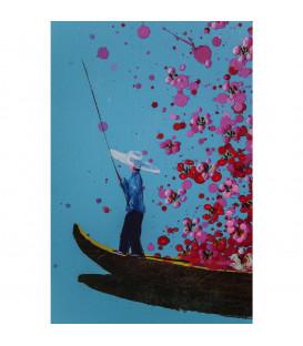Cuadro impreso retoques óleo Flower Boat 160x120cm