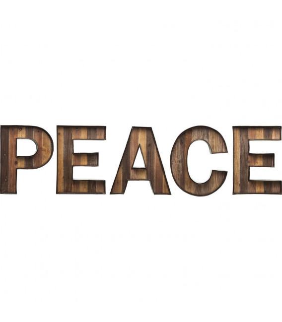 Objeto decorativo de pared Peace Wood