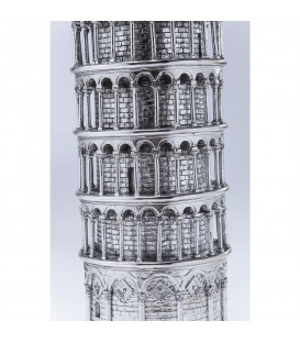 Hucha Torre Pisa cromo