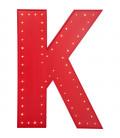 Objeto luminoso K rojo LED