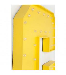 Objeto luminoso C amarillo LED