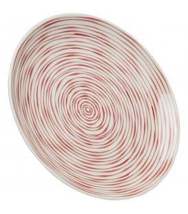 Plato Spiral rojo Ø25cm