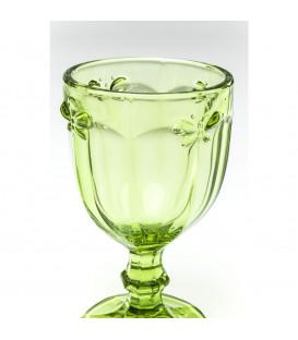 Vaso vino Goblet Butterfly Olive