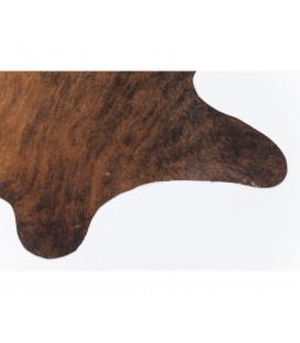 Alfombra Hide marrón-negro