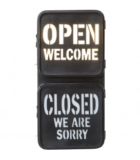 Objeto luminoso Open-Closed LED
