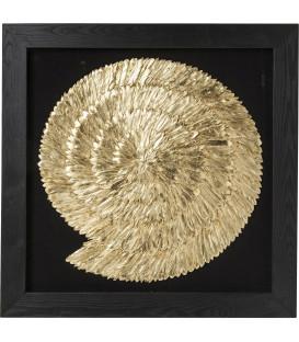 Marco decorativo dorado Snail 120x120cm