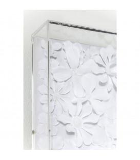 Marco decorativo blanco Flower 120x120cm