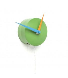 Reloj pared Halligalli verde