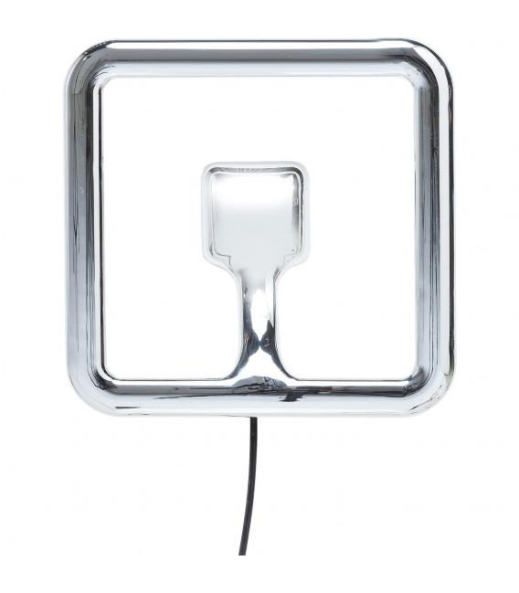 Lámpara pared Clip cuadrado cromo LED
