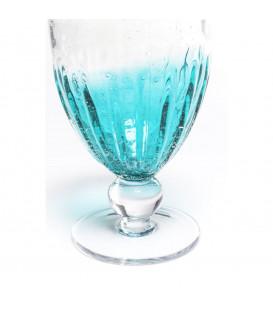 Vaso vino blanco Monaco azul