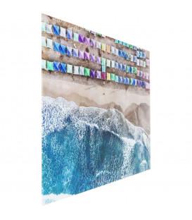 Cuadro cristal The Beach 100x150cm