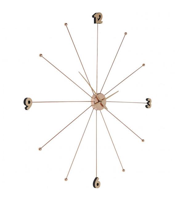 Reloj pared Like Umbrella rosa dorado