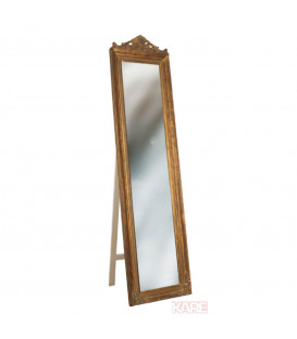 Espejo de pie Barock dorado