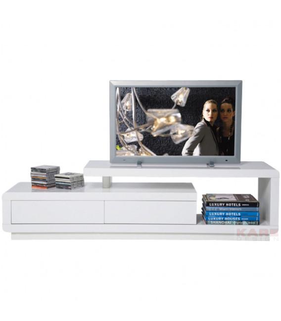 Mueble TV blanco Club Loft 2 cajones