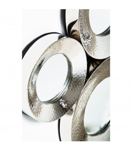 Espejo Circoli Cinque plata 46x62 cm