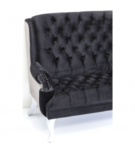 Sofá Barocco negro 190cm