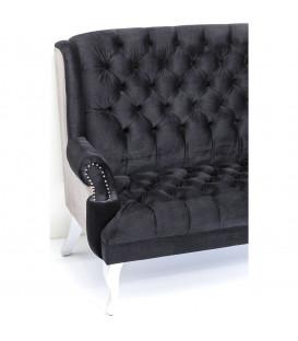 Sofá Barocco negro
