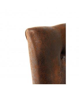 Silla acolchada Casual Buttons Vintage