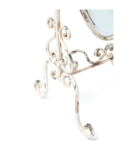 Espejo de pie Romántico blanco