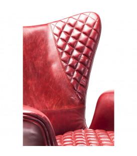 Butaca Tudor rojo piel