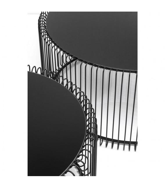 Mesa centro Wire negro (2/set)