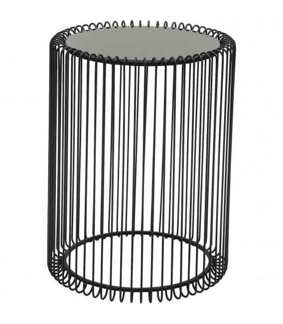 Mesa auxiliar Wire negro (2/set)