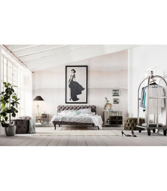 Cama Desire gris plata 160x200 cm