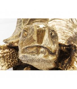 Figura decorativa Turtle dorado XL