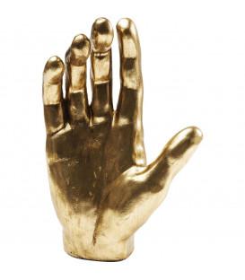 Objeto decorativo Mano dorado