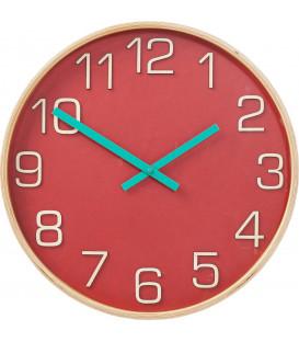 Reloj pared Nature Colore rojo