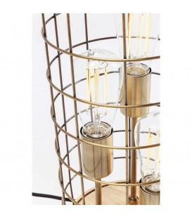 Lámpara mesa Cage Tre Wood