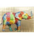 Cuadro Flower Elefant 90x120 cm