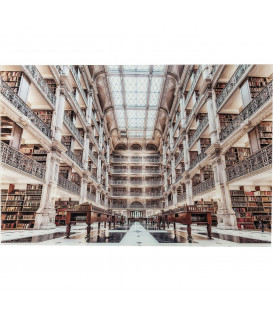 Cuadro cristal library 100x150