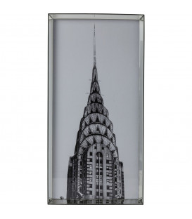 Cuadro espejo Frame Chrysler Frame Building 125x63 cm