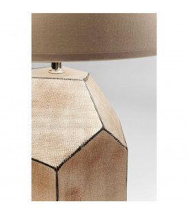 Lámpara mesa Diamond marrón claro