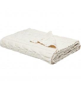 Manta Knit blanco 140x200cm