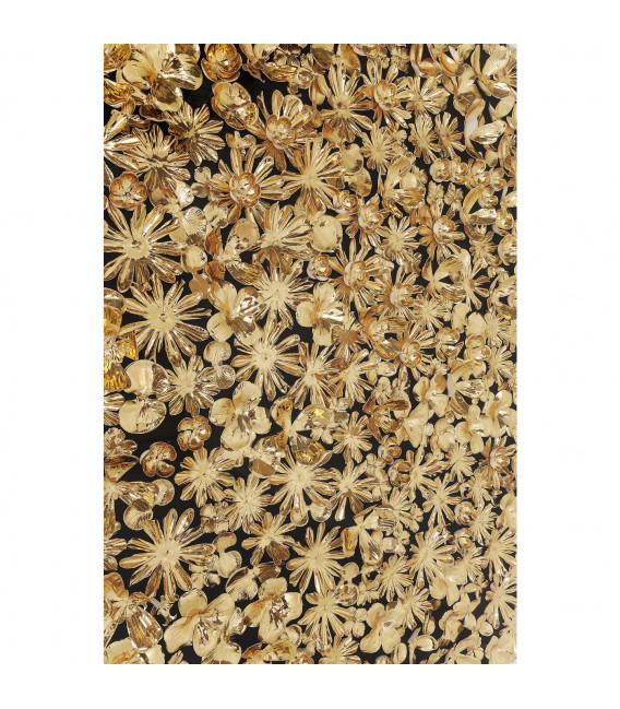 Marco decorativo dorado Flower 120x120cm